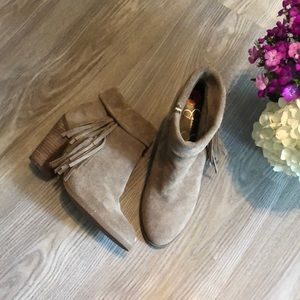 NWOT Jessica Simpson Suede Callaghan fringe bootie